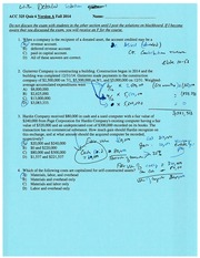 Quiz 6 with solution Fall 2014 chapter 10
