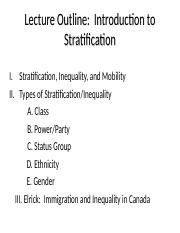 Stratification powerpoint