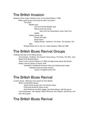 The British Invasion and British Blues notes