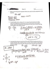 Sheet 21 Gas Laws Questions and Answers