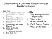 Lecture 09 - Global Warming is Caused by Rising Green House Gas Concentrations(1)