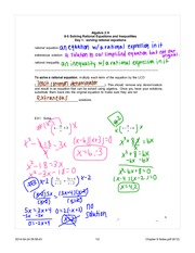 solving rational equations note