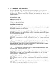piaget worksheet Piaget's assumptions about children •children construct their own knowledge in response to their experiences •children learn many things on their own without the intervention of older children or  piaget's sensorimotor stage •substage 1 (birth to 1 month) •substage 2 (1 to 4 months.
