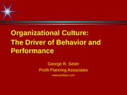 Organizational Culture part 2 + personal notes