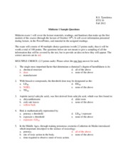 Midterm 1 Study Guide, Intro to Environmental Toxicology