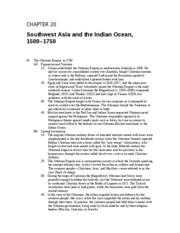 19 - Southwest Asia and the Indian Ocean, 1500 - 1750