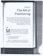 Art of Positioning