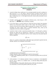 PHY 101_Tutorial-4