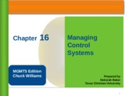 UBUS 310 Management Control Systems