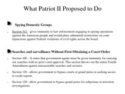 What Patriot II Proposed to Do