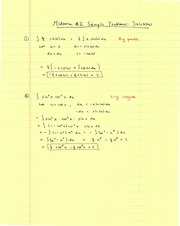 1 sample midterm #2 solutions