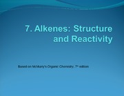 7Alkene Structure and Reactivity