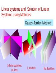4. Linear systems-Gauss Jordan method.ppt