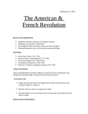 The American and French Revolution