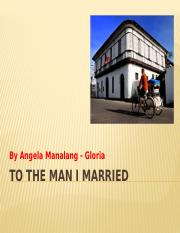 3. To the Man I Married.pptx