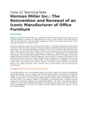 herman miller inc the reinvention and renewal of an iconic manufacturer of office furniture essay