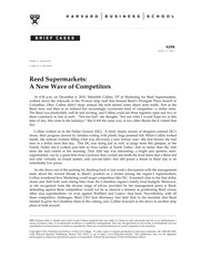 reed supermarket case essay This is not an example of the work written by our professional essay writers intellectal property  reed business information also in the case  supermarket.
