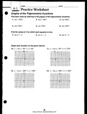 Trig Worksheets(withSolutions)