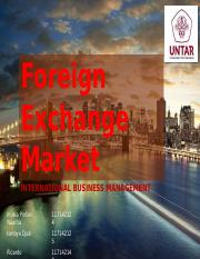 Kelompok 5 - Foreign Exchange Market
