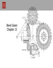 Lect 18 Bevel Gears Castro