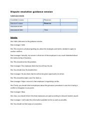 DISPUTE RESOLUTION GUIDANCE SESSION.docx