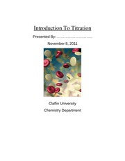 Lab Report: Introduction To Titration