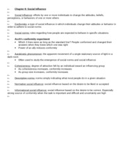 APSY270 Chapter 8 Review Sheet