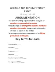 Writing An Argument