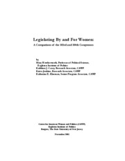 Legislating for and by women 8.22.10