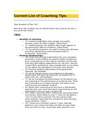 Current List of Coaching Tips.doc