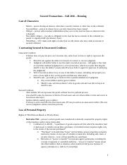 Secured Transactions – Fall 2016 – Henning.docx