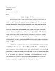 English essay 3 and thesis