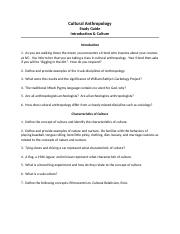 Study Guide Intro & Characteristics of Culture Revised 8-21-12(1) (1).docx
