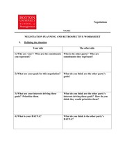 negotiations planning worksheet Elementary school lesson plan i - compromise why don't we all agree age-level: 3 rd, 4 th, and 5 th grades  hand each group the planning worksheet for the party.