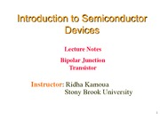 Lecture 12 - Bipolar Junction Transistor