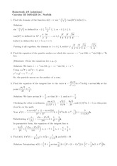 Homework C Solutions on Calculus