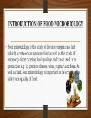 INTRODUCTION OF FOOD MICROBIOLOGY.pptx