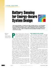 Battery Sensing for Energy-Aware System Design