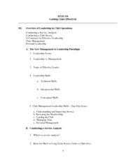 Lecture 3.  Lecture Notes Leading Clubs (Outline)