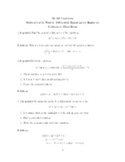 MATH 263 - Final exam with solutions -April 19th 2011