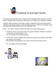 Creating Scavenger Hunts (1).doc