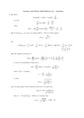 STATS 252 Winter 2006 Midterm 1 Solutions
