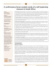 A confirmatory factor analytic study of a self-leadership measure in South Africa.pdf