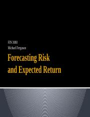 Forecsting Expected Risk and Return.pptx
