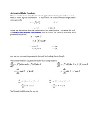 Arc Length with Polar Coordinates