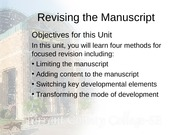 Revising the Manuscript-Part 2