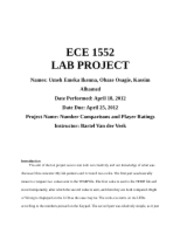 ECE 1552 PROJECT LAB REPORT