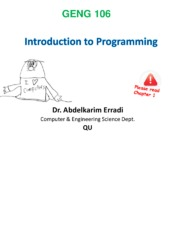 1- Introduction to Programming