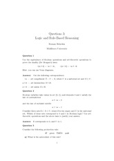 Homework 3 Solution on Logic and Rule-Based Reasoning