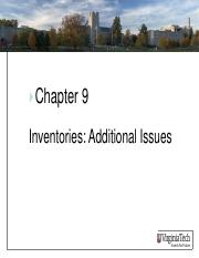 ASIS3115 Chapter 9 Inventories